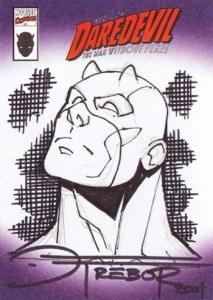 2001 Marvel Legends Sketch Card