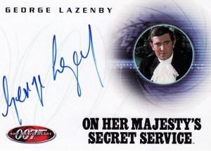 2002 James Bond 40th Anniversary Autographs A6 George Lazenby