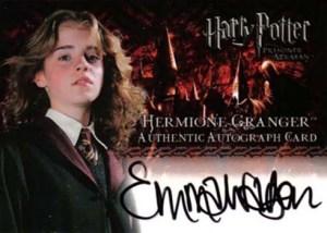 2004 Artbox Harry Potter and the Prisoner of Azkaban Autographs Emma Watson