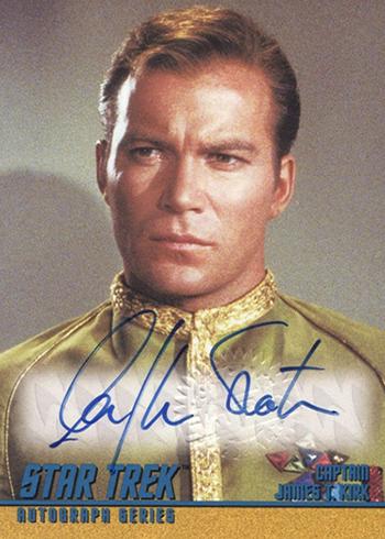 1997 Star Trek TOS Season 1 Autographs A1 William Shatner as Captain Kirk