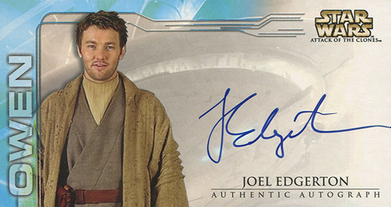 2002 Topps Star Wars: Attack of the Clones Widevision Autographs Joel Edgerton