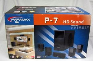 Paramax P7 Home Theater Surround Sound 500W 5 Way Speaker