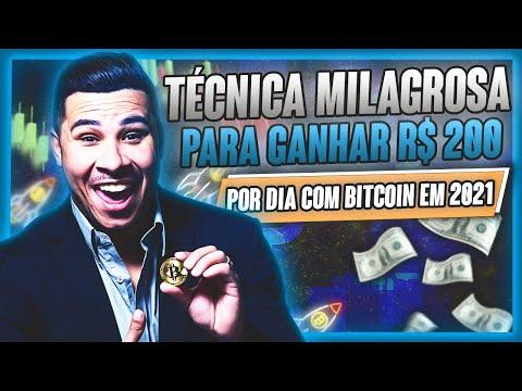 Técnica MILAGROSA para GANHAR R$ 200 reais por DIA com BITCOIN em 2021(ganhar dinheiro com bitcoin)