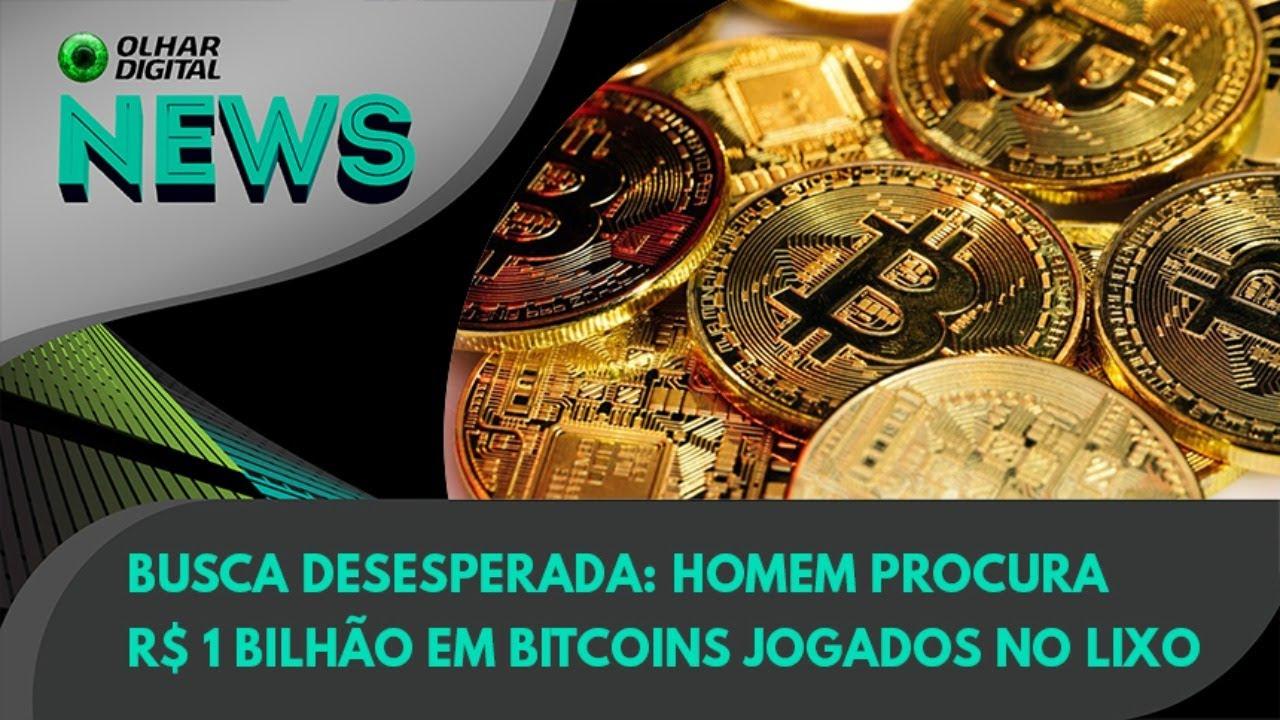 Ao Vivo   Busca desesperada: homem procura R$ 1 bilhão em bitcoins jogados no lixo   14/07/2021  