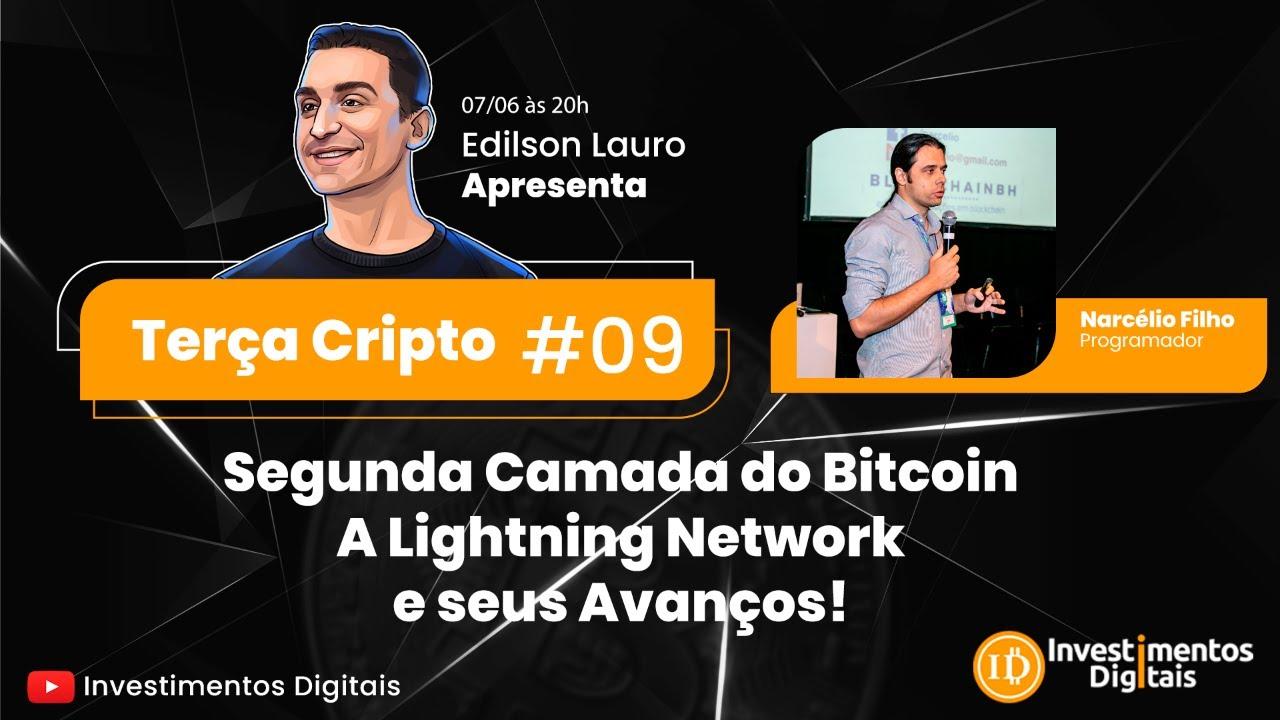 Terça Cripto #09: Segunda Camada do Bitcoin: A Lightning Network e seus Avanços! (c/ Narcélio Filho)