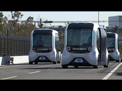 Toyota e-Palette: ônibus sem motorista transporta atletas nas Olimpíadas