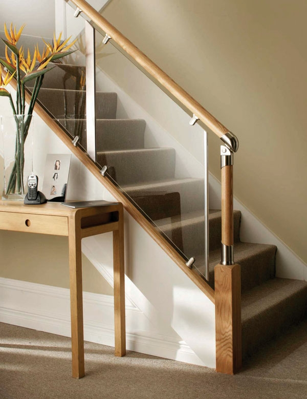 S Vision Glass Balustrade System Oak Handrails Stair Banister | Glass Banisters For Stairs Price | Floating Stairs | Oak Staircase | Oak Handrail | Wood | Curved Glass