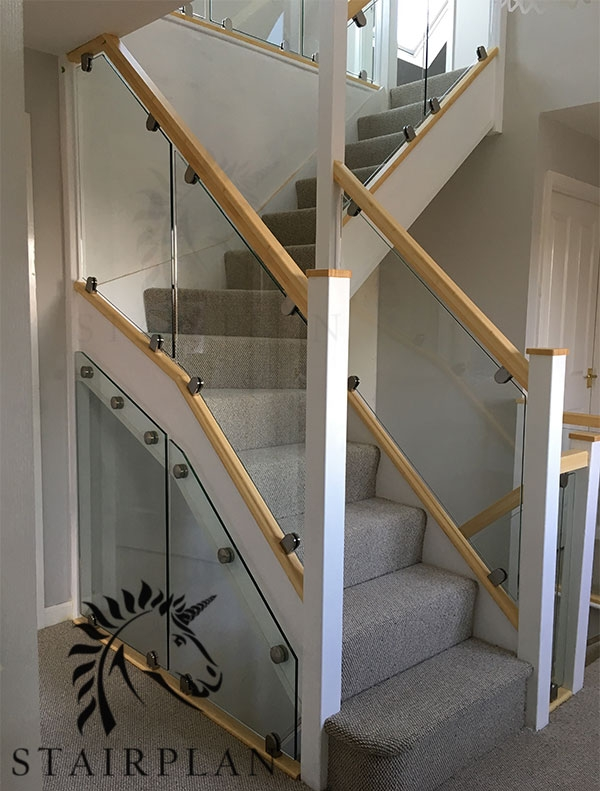 Glass Balustrade Panels Design Order Online Toughened Glass | Glass Banisters For Stairs Price | Floating Staircase | Railing | Stair Railing Systems | Stainless Steel | Stair Case