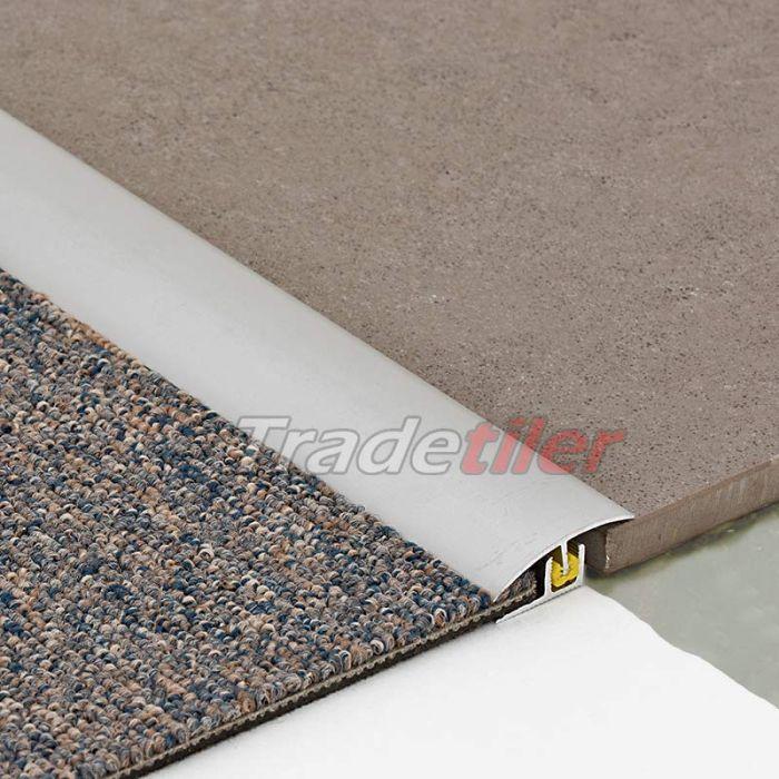 dural clipper 2000 tile to carpet aluminium door bar trim silver 900mm