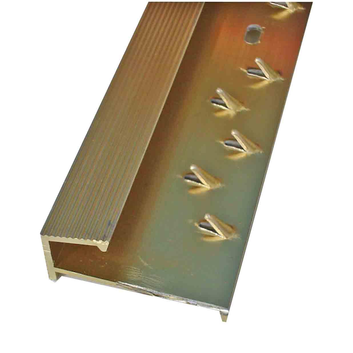 square carpet tile edge gold door trim x 2 7 mtr long