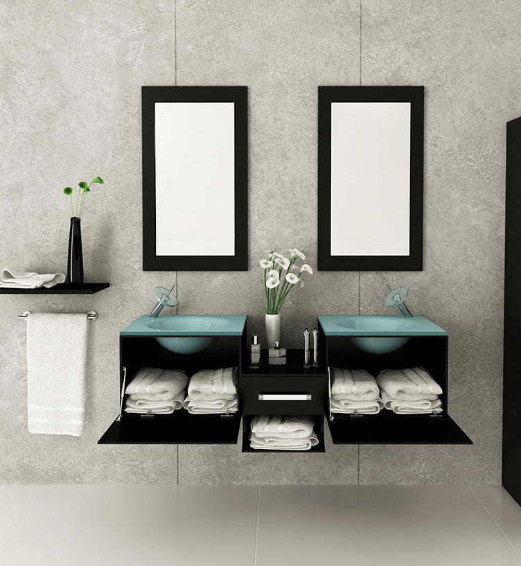 The Top 14 Bathroom Trends for 2016   Bathroom Ideas and Inspiration     space saving bathroom designs are trends this year