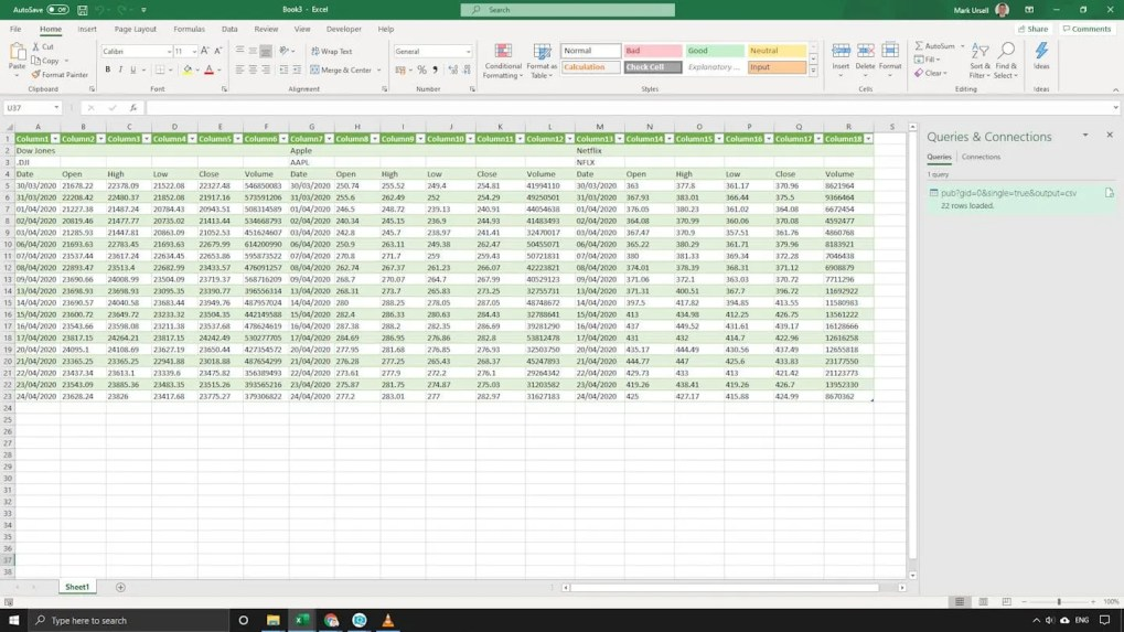 Step 3 - Import into Excel