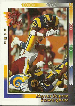 1992 Wild Card #2 Marcus Dupree Front