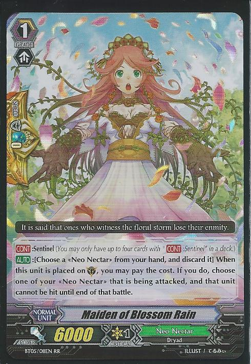 BT05/009EN RR Near Mint Vanguard Maiden of Trailing Rose 1x Cardfight!