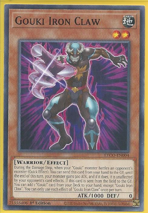 Yu-Gi-Oh ETCO-EN004. TCG Eternity Code Gouki Iron Claw
