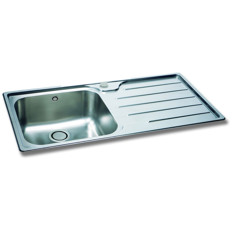carron phoenix ibis inset 100 1 bowl stainless steel kitchen sink right hand drainer 101 0154 519