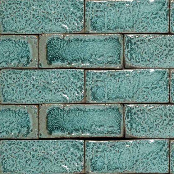 amazonite glazed brick tiles pack of 45 dsg ama 75 54
