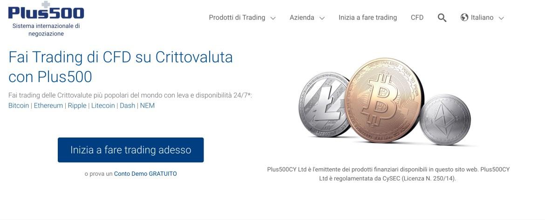 Trading Criptovalute con Plus500