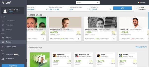 Social Trading la pagina dedicata ai migliori trader da copiare