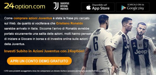Comprare Azioni Juventus 24Option
