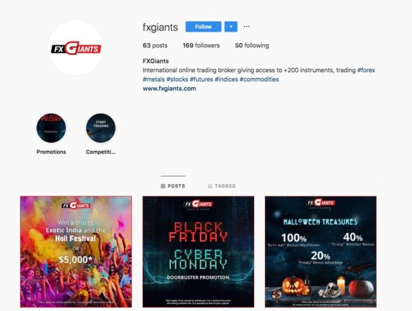 Fxgiants Pagina di Instagram