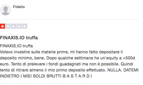 Finaxis Truffa Recensioni Opinioni