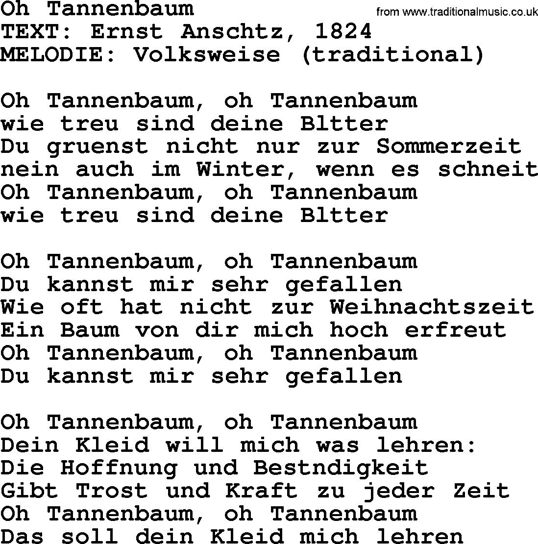 Traditional German Tannenbaum