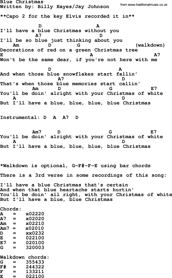 Blue Christmas Ukulele Chords Lumineers Christmaswalls