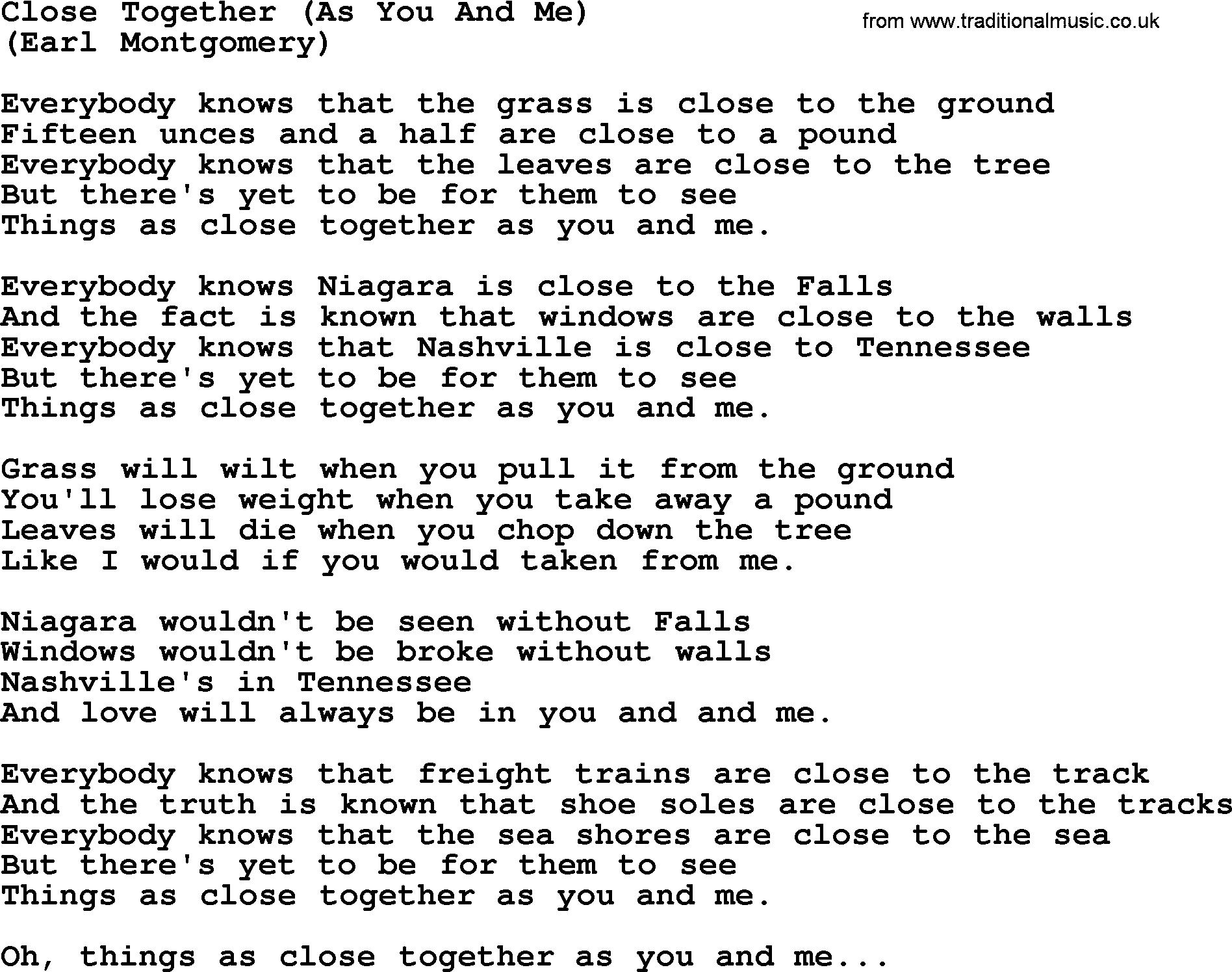 Lyrics Songs About Love