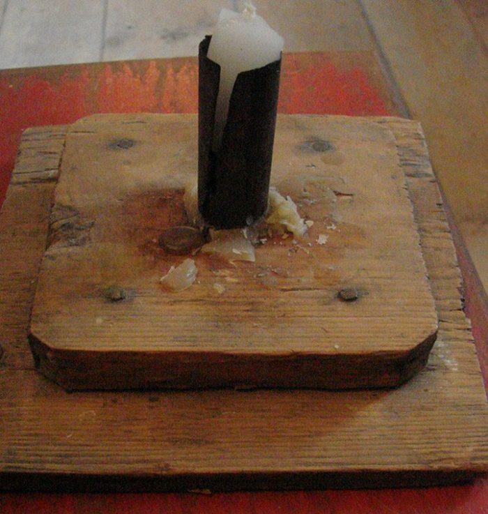 primitive candle holder