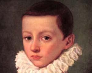 Arriba, San Luis Gonzaga mantuvo su pureza e inocencia hasta su muerte.