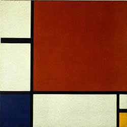 abstract occult art by Mondrian, 1930