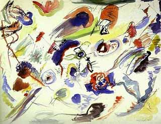 The first known abstract art, Kandisnsky's watercolor, 1911