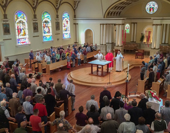 gathering of the people mass