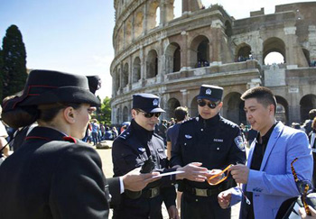Italian Police hired Chinese to deal with immigrants