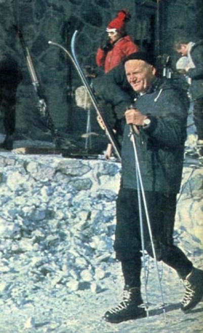 Image result for John Paul II, ski