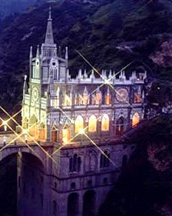 Santuario de las Lajas una noche la