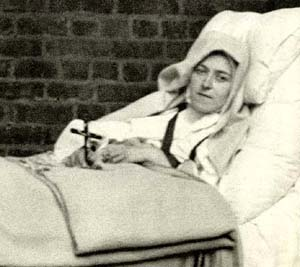 St  Therese sick in the bed