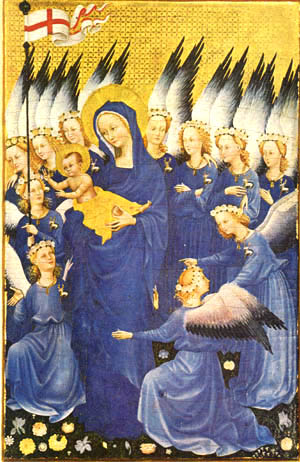 Angels giving glory to the Virgin Mary and Christ Child Image from http://www.traditioninaction.org/index.htm