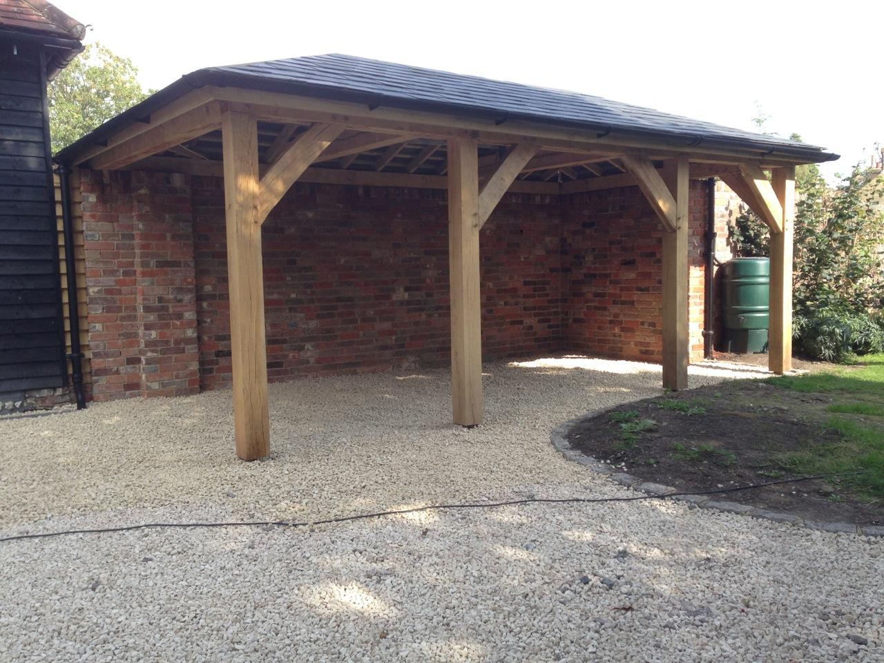 Oak Framed Carport Tradoak Case Study