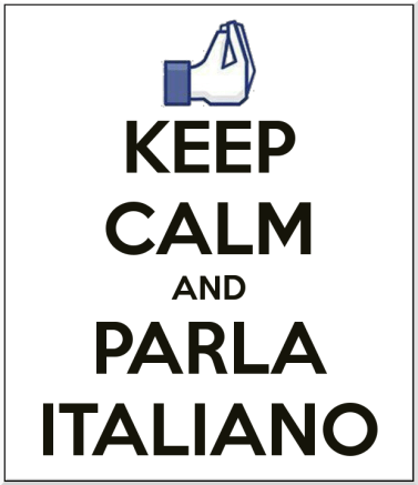 keep calm e fale italiano