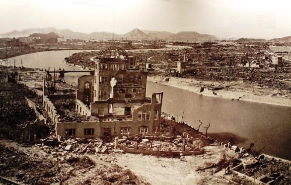 La devastazione: foto scattata nel Museo della Pace di Hiroshima