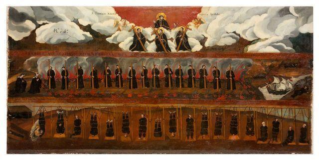 Martirio di San Paolo Miki e compagni, Giovanni Koto e Giovanni Kisai. Foto di Zeno Colantoni, tratta da www.gliscritti.it