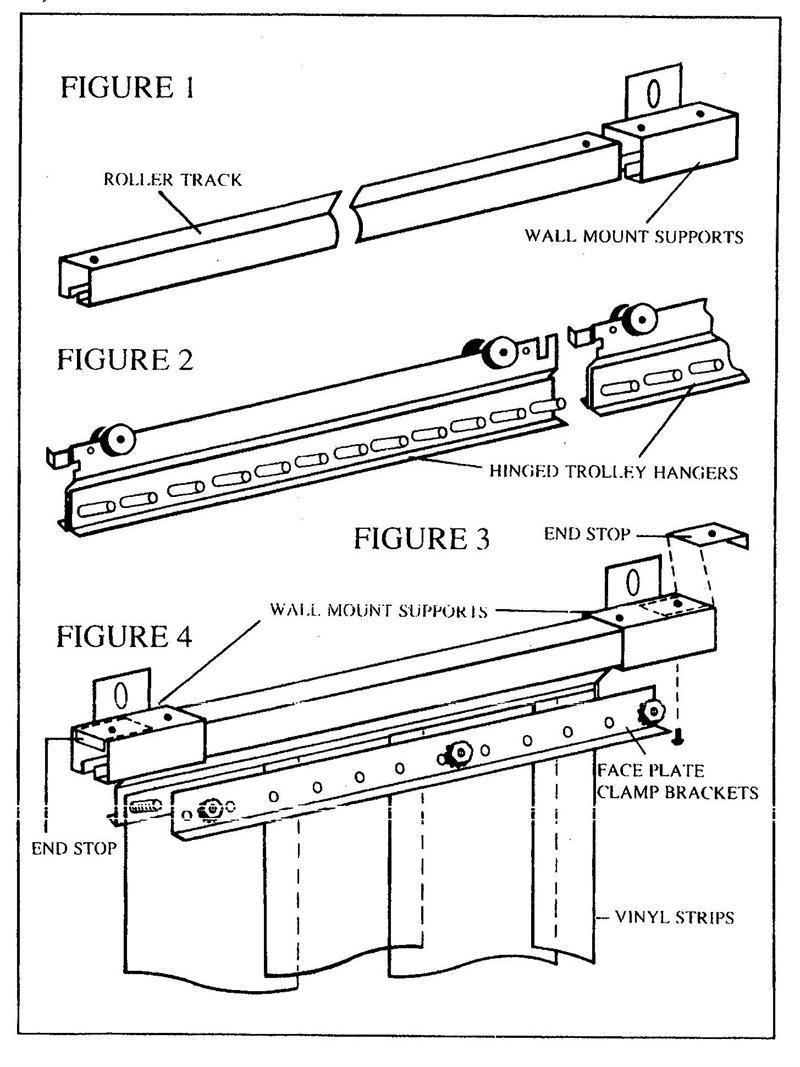 strip curtain slide open roller track