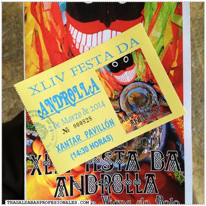 Tragaldabas Profesionales - Carnaval Entroido 2014 - Viana do Bolo - Festa da androlla - Cartel