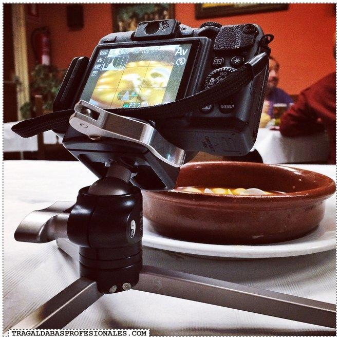 Fotografia de comida - Tragaldabas Profesionales - Tripode mesa sobremesa