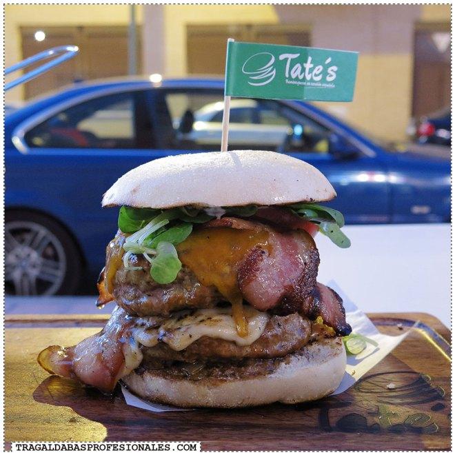 Hamburguesas en Madrid - Bacon cheese burger - Tragaldabas Profesionales - Restaurante Tate's