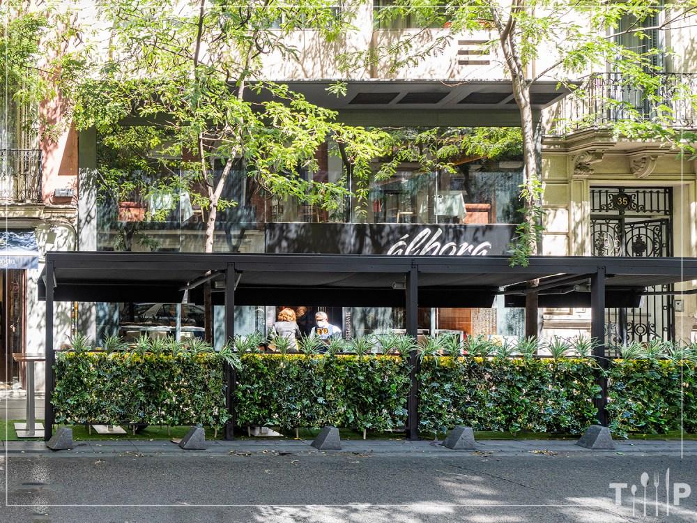 Terraza Restaurante Álbora Madrid
