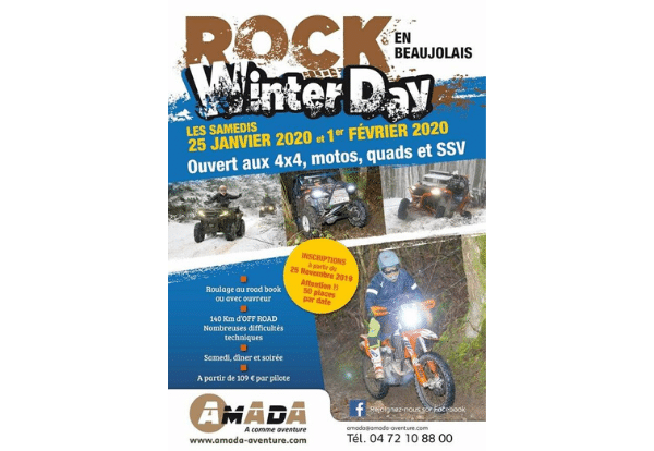 Rock Winter Day