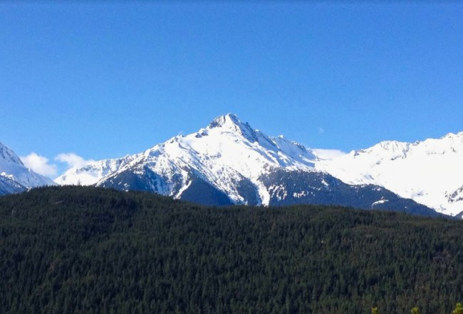 Just outside of Whistler Mountain